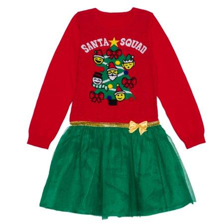 Well Worn Girls Red Amp Green Santa Squad Christmas