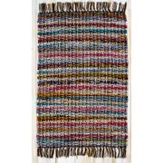 CLM Hopscotch Cocoa Striped Area Rug