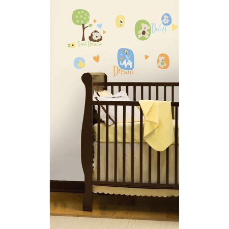 roommates modern baby peel stick wall decals. Black Bedroom Furniture Sets. Home Design Ideas