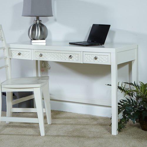 My Home Furnishings Amanda Writing Desk with 3 Drawers