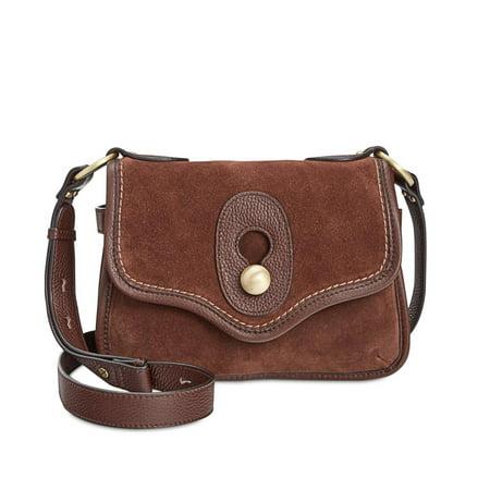 Nanette Lepore Womens Waverly Suede Organizational Crossbody Handbag