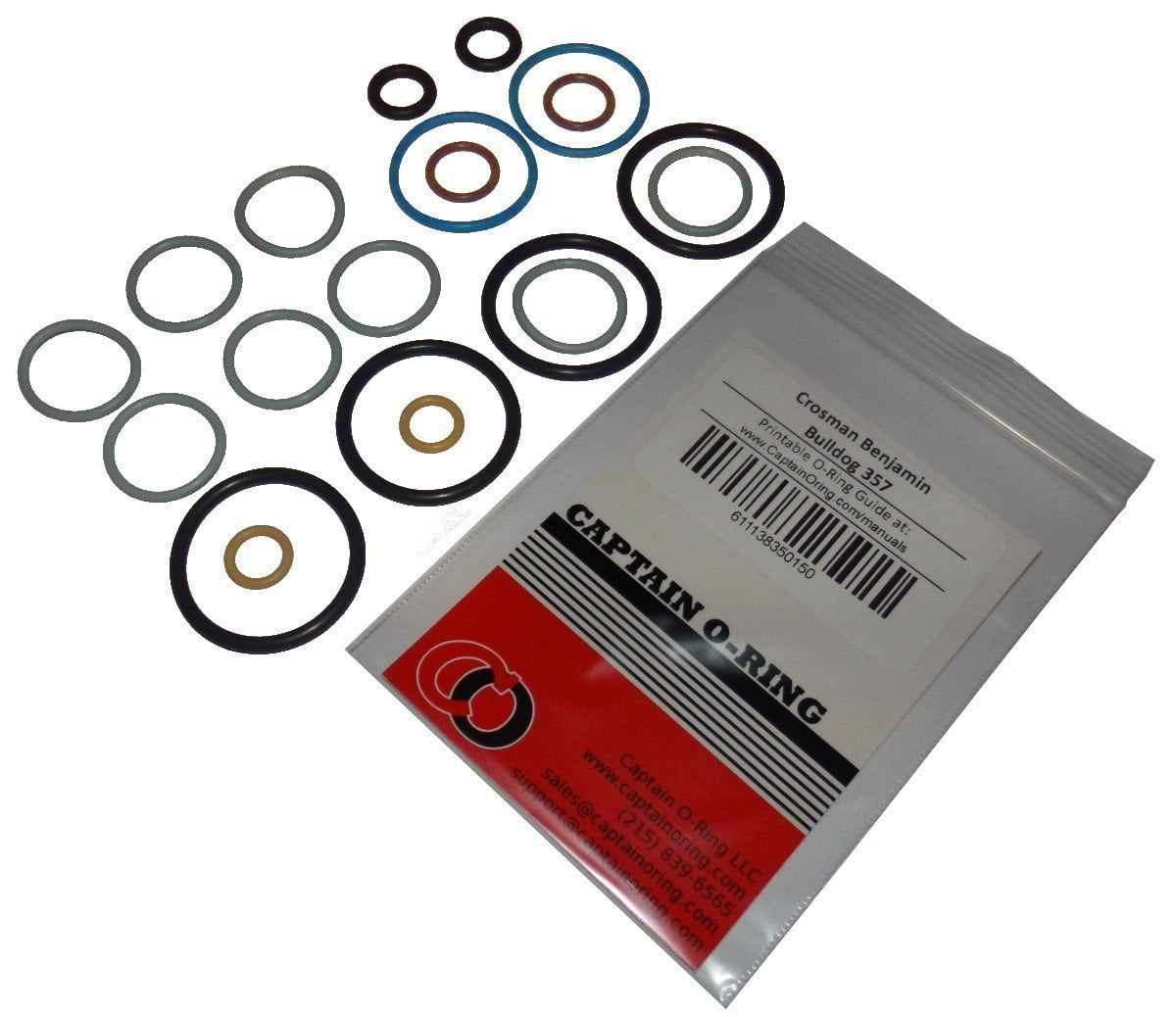 Crosman Benjamin Bulldog 357 Air Rifle Full 2x COLOR CODED Captain O-Ring Rebuild Kit by