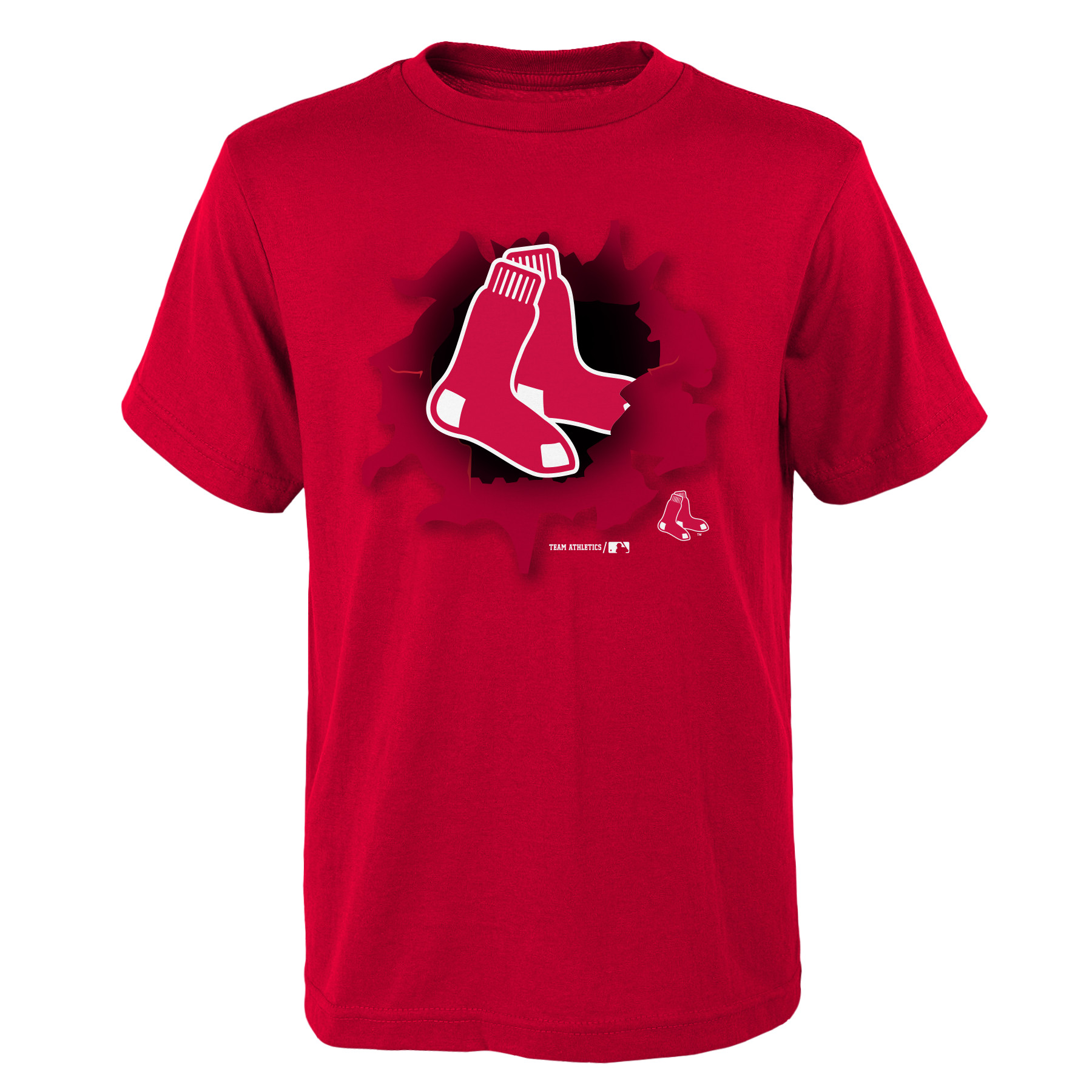MLB Boston RED SOX TEE Short Sleeve Boys OPP 100% Cotton Alternate Team Colors 4-18