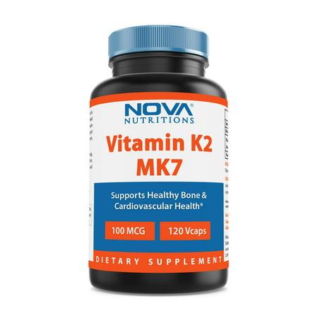 nova nutritions vitamin k-2 (mk-7) 100 mcg 120 vcaps ()