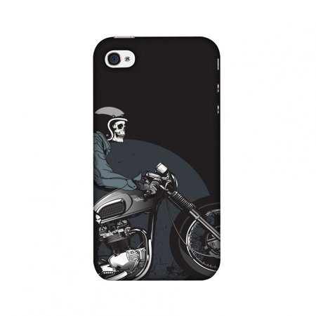 iPhone 4S Case, iPhone 4 Case - Love for Motorcycles 2,Hard Plastic Back Cover, Slim Profile Cute Printed Designer Snap on Case with Screen Cleaning