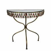 Decorative Semi Accent Table,Brown