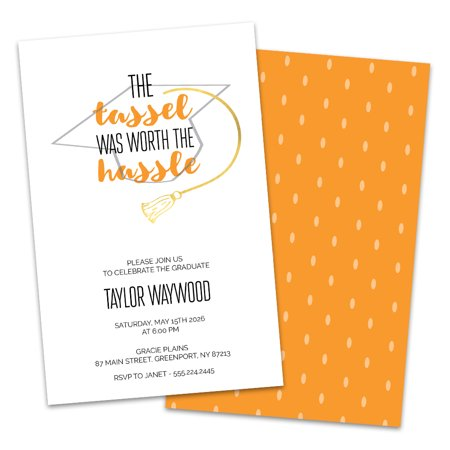 Personalized Tassel Hassle Graduation Party Invitation
