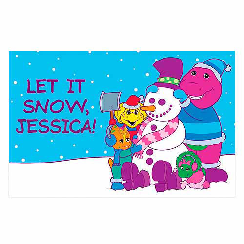 Personalized Barney Let it Snow Placemat