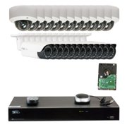 GW Security 32 Channel H.265 4K NVR 5-Megapixel (2592 x 1520) 4X Optical Zoom Network Plug & Play Security System, 24pcs 5MP 1920p 2.8-12mm Motorized Zoom POE Weatherproof Bullet & Dome IP Cameras