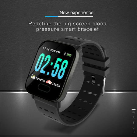Smart Watch Fitness Tracker Smart Wristband with Heart Rate Monitor Blood Pressure Activity Fitness Watch for Women Men - image 1 of 11