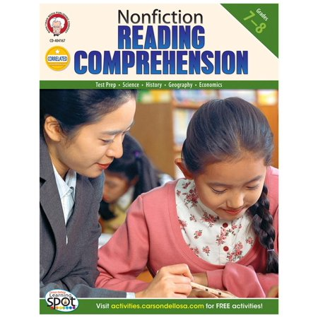 Nonfiction Reading Comprehension, Grades 7 - 8 Nonfiction Reading Comprehension Set