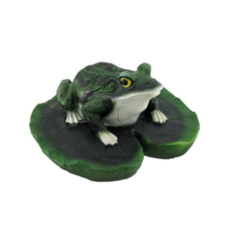 Frog on lily pad floating pool or pond ornament Pond ornaments