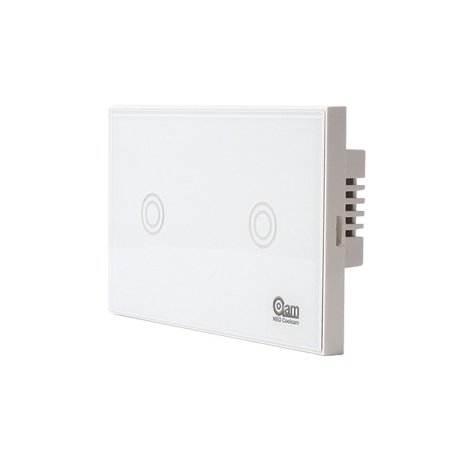 Ustyle NEO COOLCAM Z-wave Wifi Wall Light Switch 2 Gang Wireless Smart Remote Control US - image 4 de 9