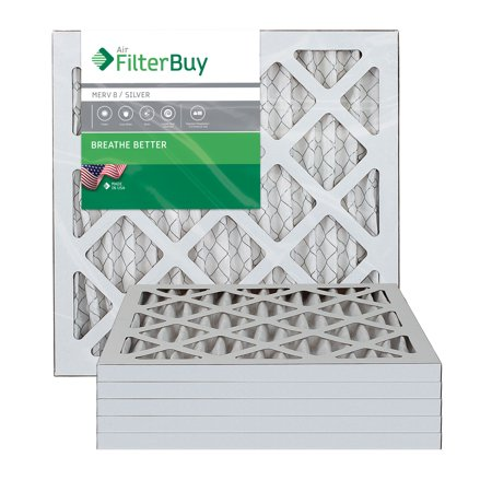 AFB Silver MERV 8 8x16x1 Pleated AC Furnace Air Filter Pack of 6 Filte