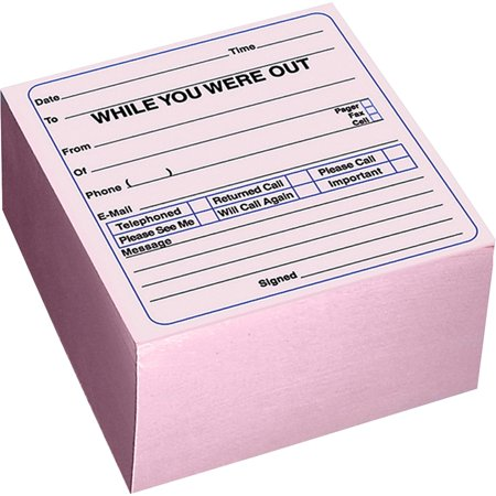 Rediform, RED47696, Self-Stick WYWO Message Cube, 1 Each, - Pink Daisy Notes