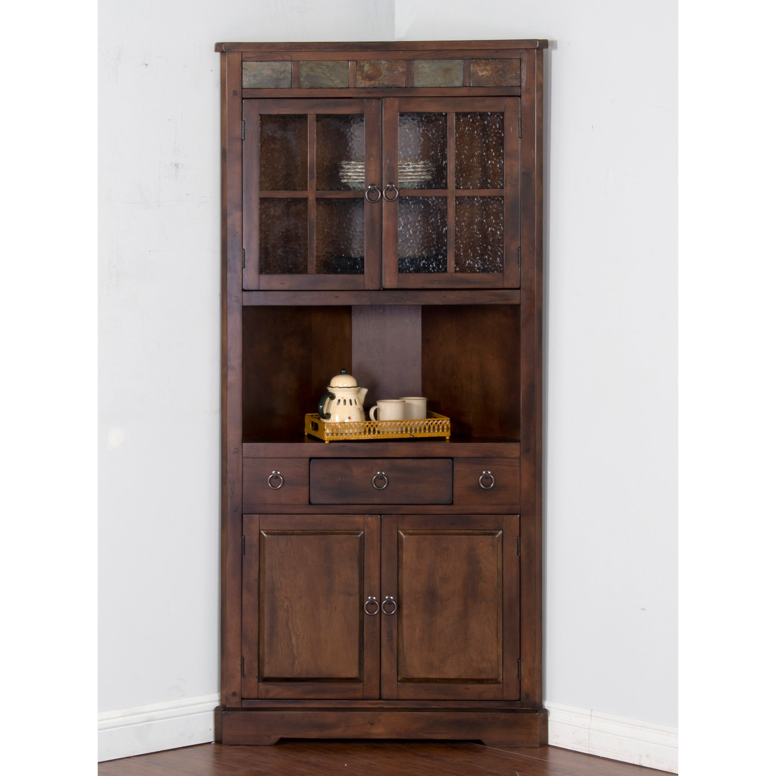 Sunny Designs Santa Fe Corner China Cabinet