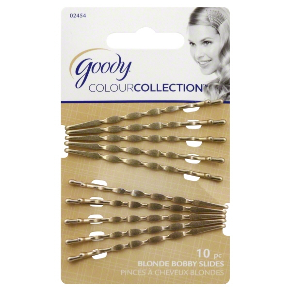 Goody Colour Collection Wavy Bobby Slides - Blonde - 10 Pk.