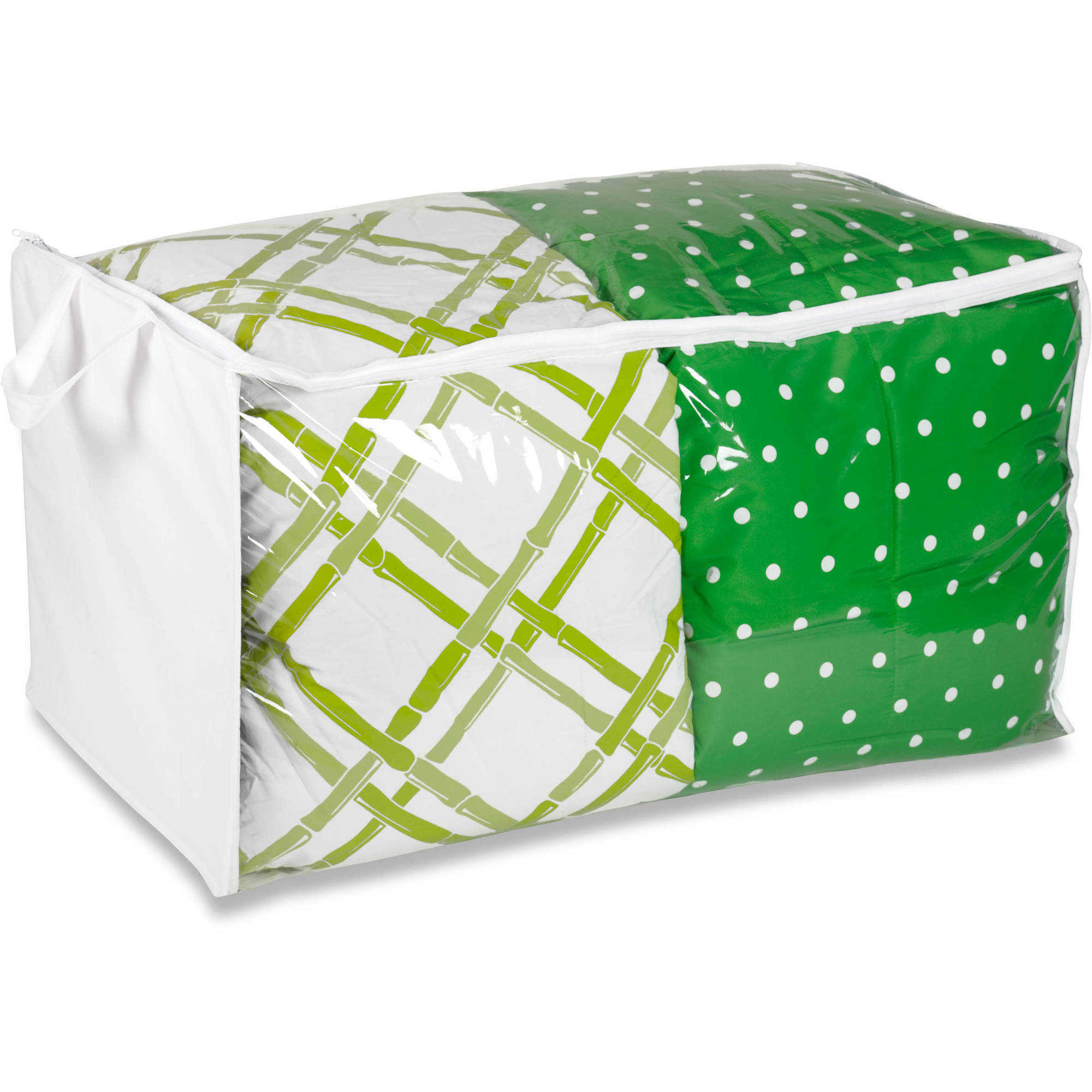Honey Can Do PEVA Jumbo Storage Bag, White/Clear (Pack of 2)