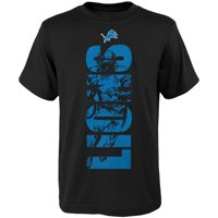 Product Image Youth Black Detroit Lions Side T-Shirt 0367f4d98