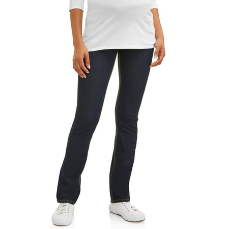 Maternity Demi Panel Super Soft Straight Leg Jeans - Available in Plus (Demi Gem)
