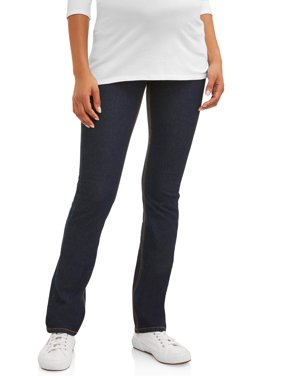 3a15f2b283aec Product Image Oh! Mamma Maternity Straight Leg Jeans with Demi Panel -  Available in Plus Sizes