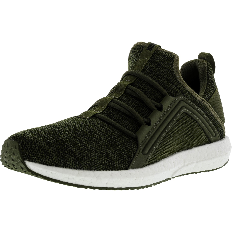 Puma Men s Mega Nrgy Knit Olive Night   Black Ankle-High Running Shoe -  10.5M 09c9eeab5