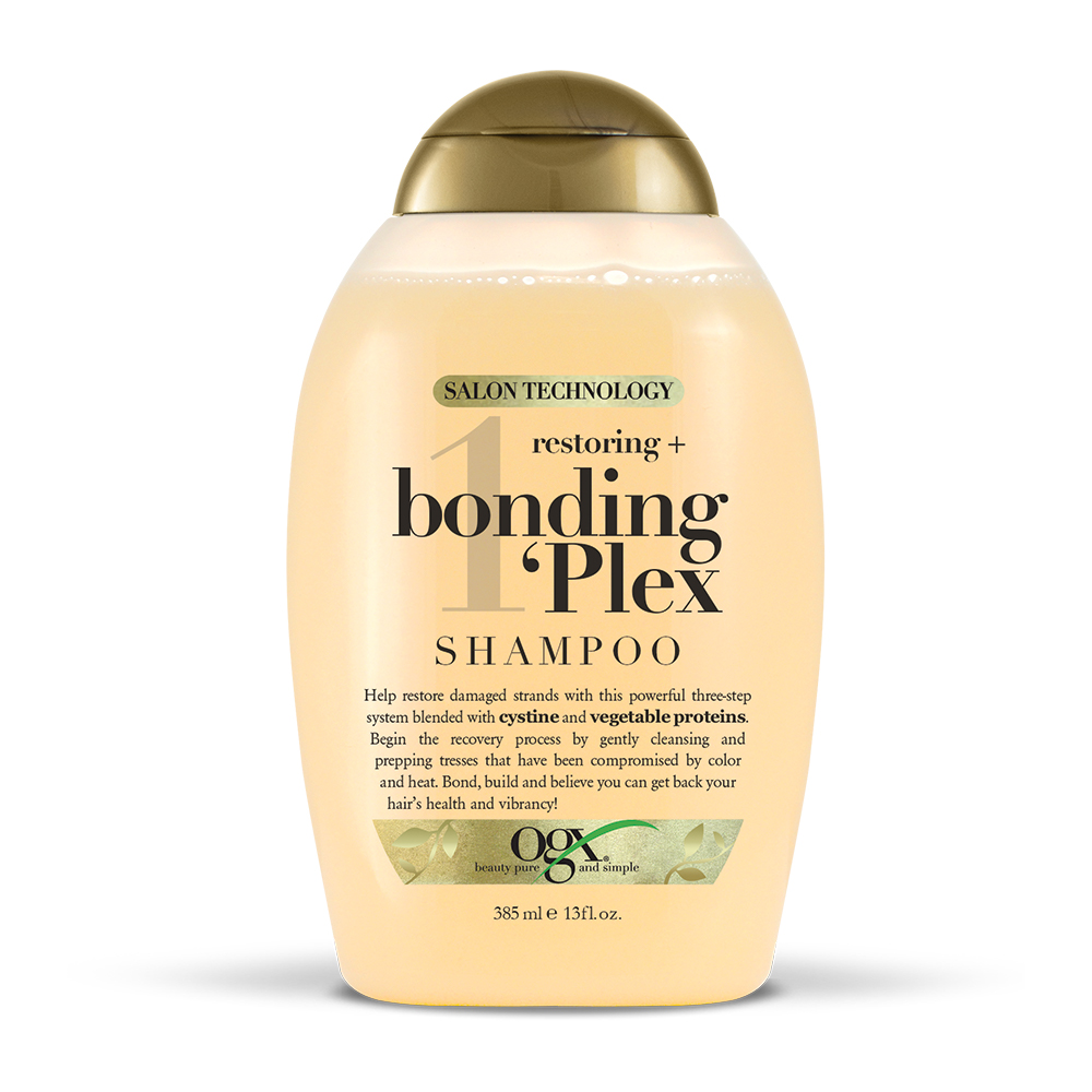 OGX Restoring + Bonding Plex Shampoo, 13 FL OZ