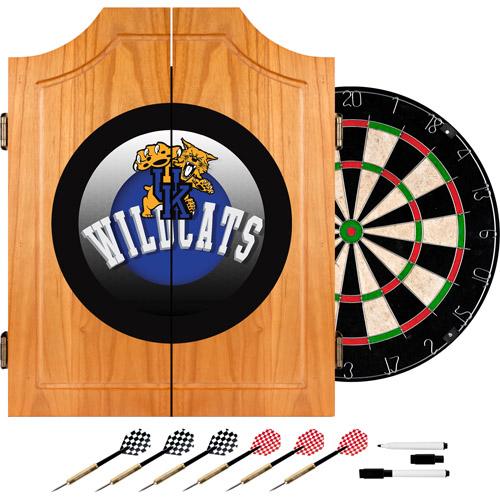 University of Kentucky Wildcats Wood Dart Cabinet Set, Honeycomb