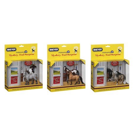Surprise Package (Breyer Mystery Foal Surprise Assorted Coat Colors (1-Pack), Contains one package of three)