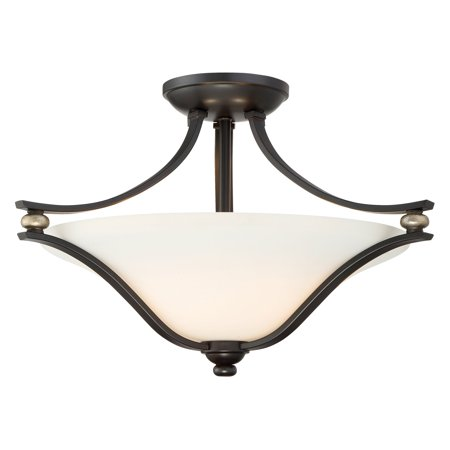 Minka Lavery Shadowglen Semi Light Flush Mount - Lathan Bronze with Gold Highlights