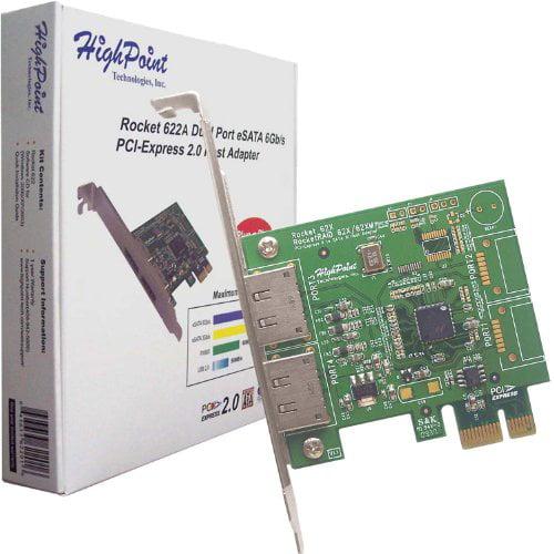 Highpoint Rocket Serial Ata Controller 2 Serial Ata/600 External Sata (rocket622)