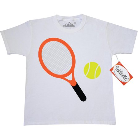 - Inktastic Tennis Racket And Ball Youth T-Shirt Sports Player Team Hobbies Hobby Tee Kids Children Child Tween Clothing Apparel Teen Hws