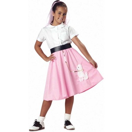 Child Poodle Skirt Costume California Costumes - Pink Poodle Skirt Halloween Costume