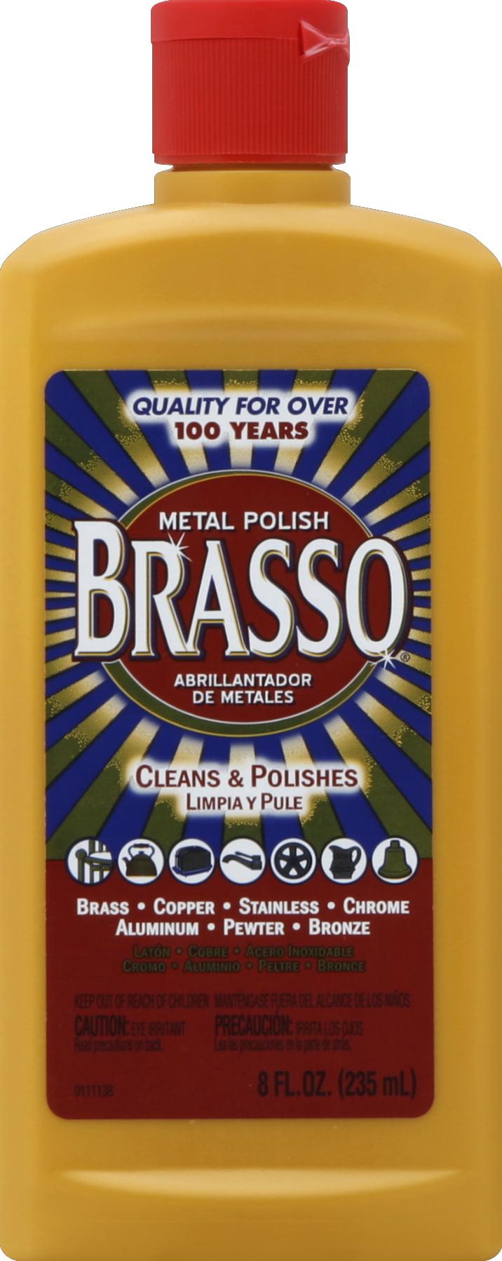 Metal Polishing Near Me >> Brasso Metal Polish 8oz Bottle For Brass Copper Stainless Chrome Aluminum Pewter Bronze