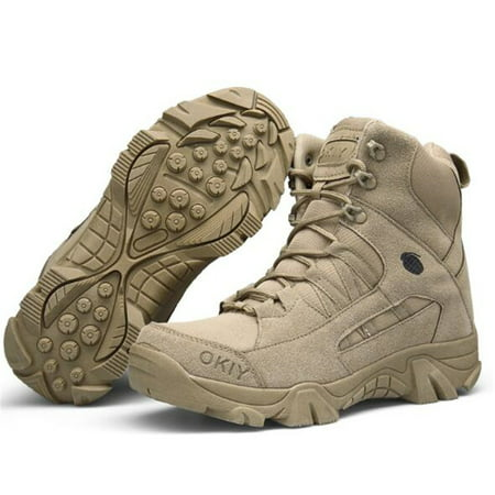 Men Army Tactical Combat Military Ankle Boots Outdoor Hiking Desert Shoes - Men Footwear Combat Boots