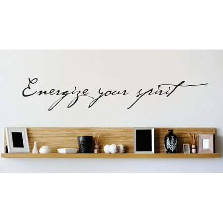 New Wall Ideas Energize Your Spirit Quote 8x30 Inches