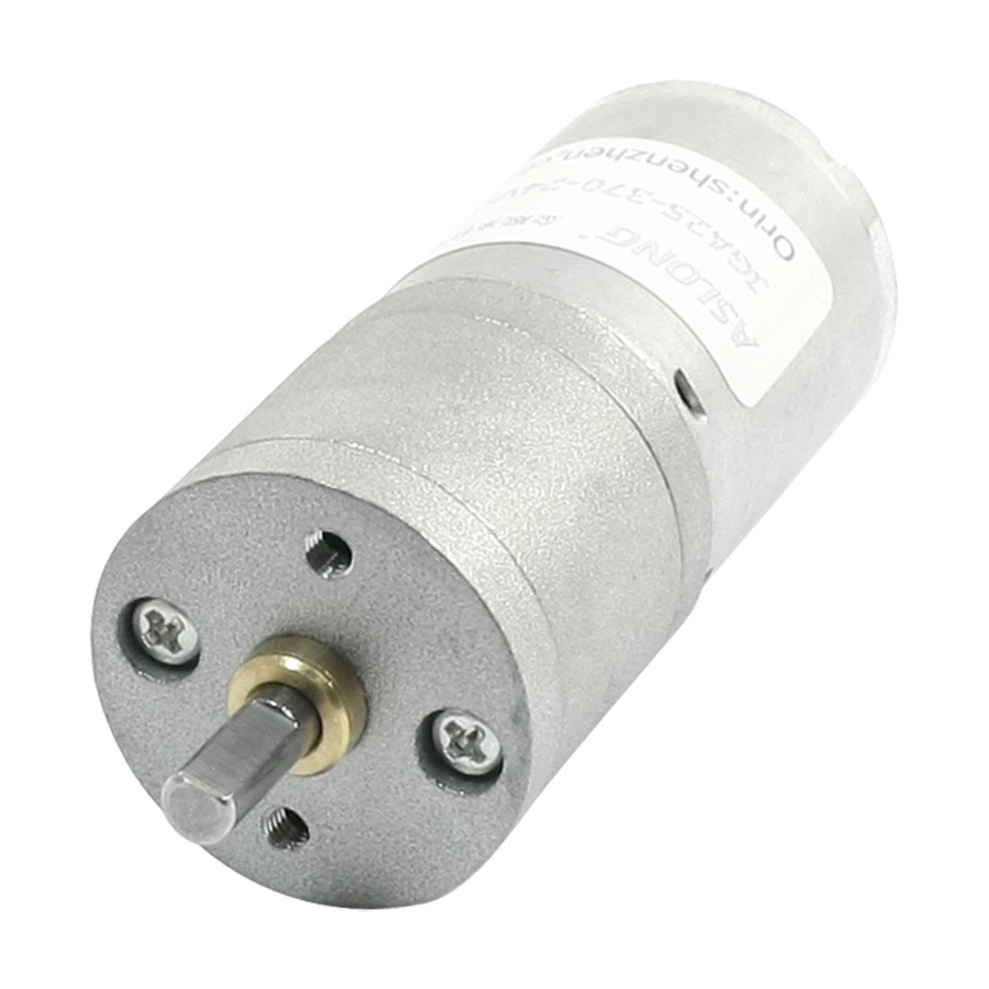 Unique Bargains GA25-370 24V 36r/min 2 Terminal Soldering Speed Reducing DC Gear Motor