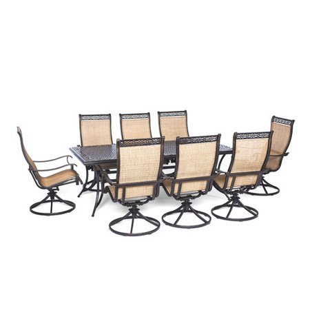 Cambridge Outdoor Dining Eight Swivel Rockers Tan