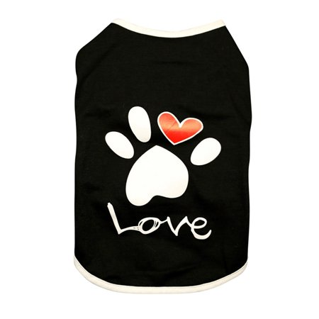 Lavaport XS-XXL Pet Summer Costume Paw + Letter Printed Cotton Sleeveless Vest For Small Medium Large Dog - Pet Costumes For Small Dogs