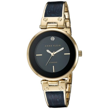 - Anne Klein Women's AK-2512NVGB Gold Stainless-Steel Japanese Quartz Fashion Watch