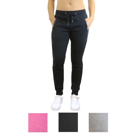 Women's Tech Joggers With Side Zipper Pockets - SLIM FIT DESIGN (Revolution Jogger)