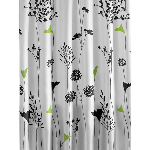 Perry Ellis Asian Lily Cotton Shower Curtain