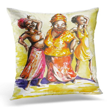 Arhome Black Painting Three Happy Dancing African Women I Have