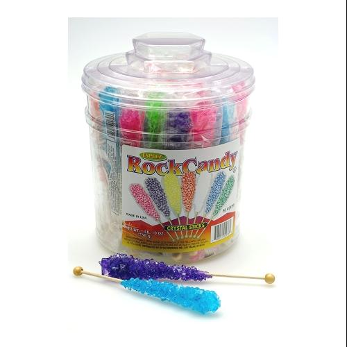 Assorted Rock Candy Sticks: 36 Count