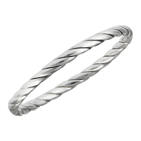 Twisted Knot Wedding Ring Sterling Silver Stackable Criss Cross Band Size 3 ()