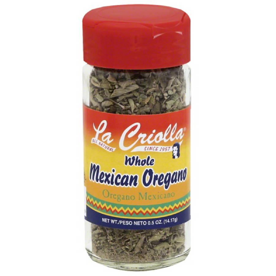 La Criolla Whole Mexican Oregano, 0.5 oz, (Pack of 12)