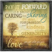 Forest Creations Magnet Pay it Forward Framed Graphic Art