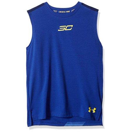 - Under Armour HeatGear Grade School SC30 Curry Tank Top Sleeveless Shirt