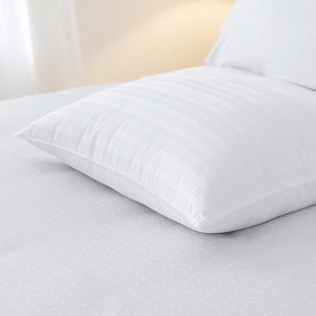 Sleep Like A King  Barcelona 100 Cotton Woven Dobby Stripe Bed Pillow