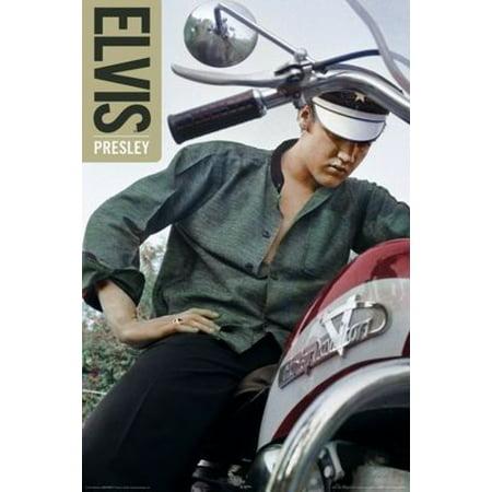 Elvis Presley - Color Bike Poster Poster Print